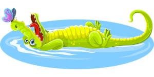 Juillet 2020 : Un crocodile à la piscine